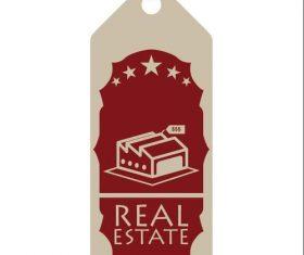 Villa estate design label vector