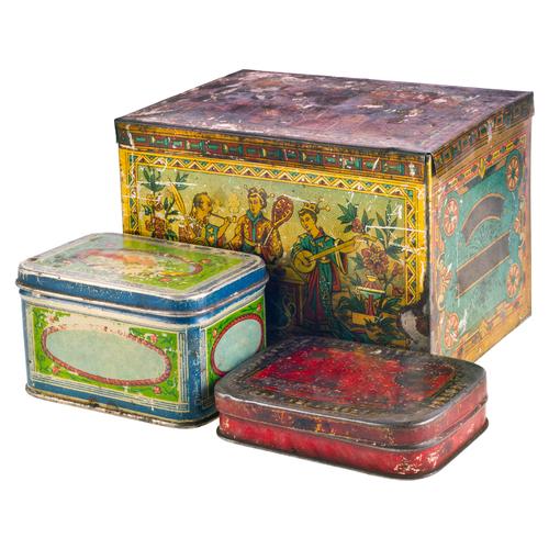 Vintage Grunge Metal Boxs Stock Photo