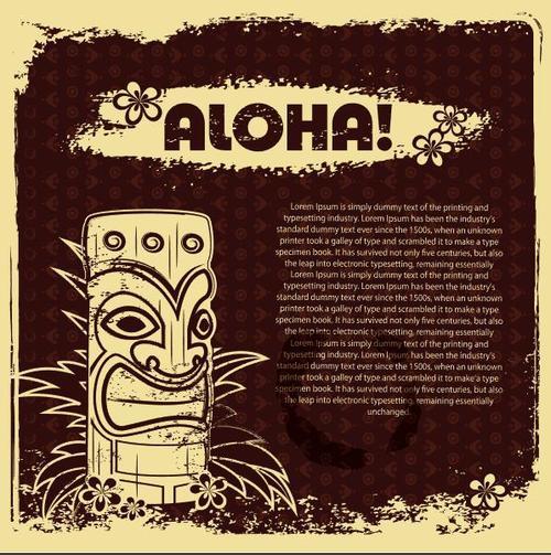 Vintage Hawaii Travel Poster vector