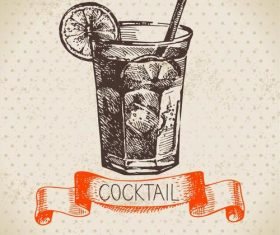 Vintage cocktail cover vectors