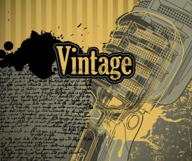 Vintage conceptual background with designed elements vector