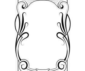 Vintage floral pattern frame design vector