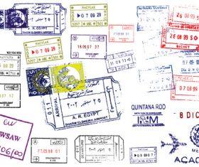 Vintage stamps and postmarks vectors
