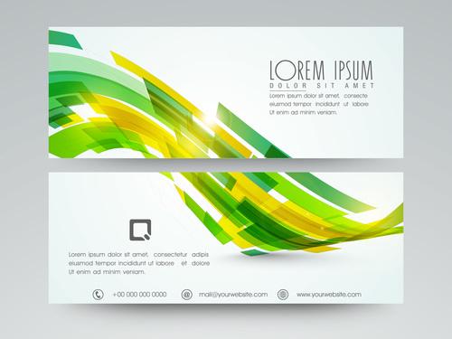 Website Header and Banner vector
