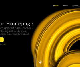 Website vector homepage design vectors