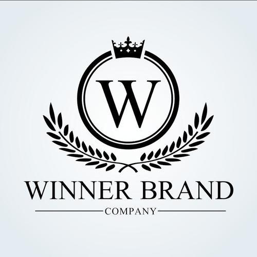 Winner brand logo vector