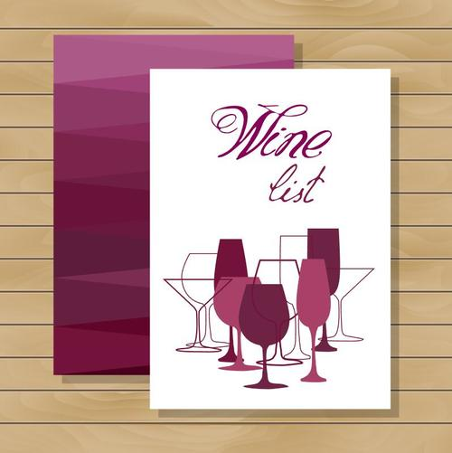 Wooden plaid background wine glass vector