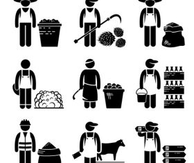 Worker cartoon icon vector