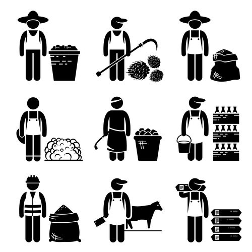 Worker cartoon icon vector
