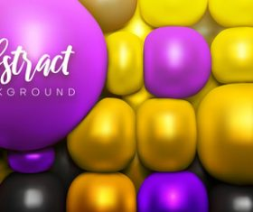 Yellow and purple geometrical spheres backgrounds vectors