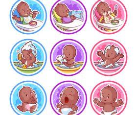 baby stickers vectors graphics