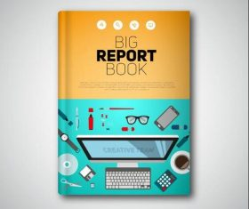 book report flat vectors