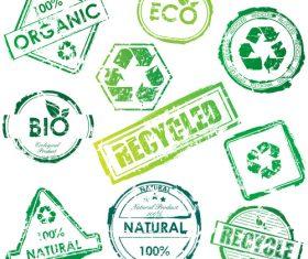 eco stamps vectors