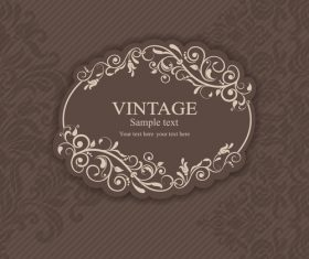 elegance lacy damask element vector