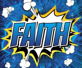 faith style comic book vectors