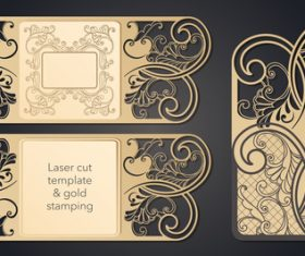 laser cut template gold stamping vectors