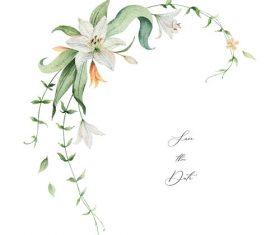 lilies decorative design watercolor vector 01