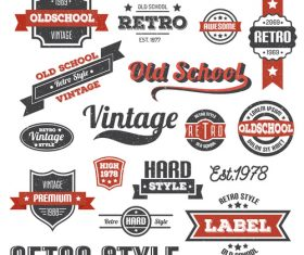 old scool vector set