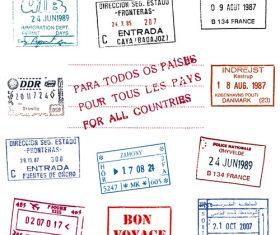 passport stamp vectors