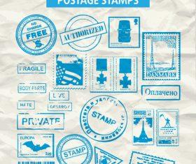 postage stamps vectors