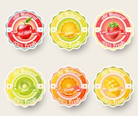 sticker fruit vector