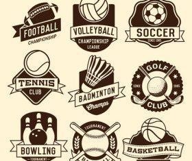 vector Sport logotypes tag set