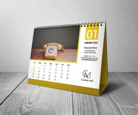 Torus – Free Desk Calendar Design Template 2019 PSD