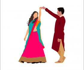 Lovely Cute Couples vector