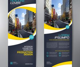 A4 template banner design vector
