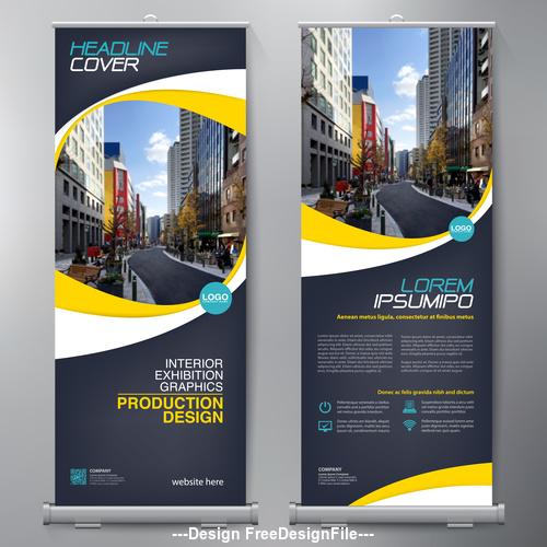 A4 template banner design vector