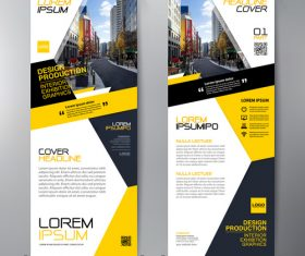 A4 template banner flyer design vector