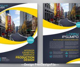 A4 template brochure flyer design vector