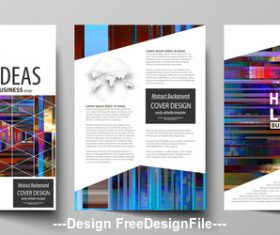 Abstract company business template vector