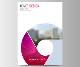 Abstract corporate brochure design vector