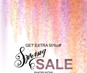 Abstract floral pattern summer sale template   vector