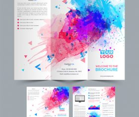 Abstract painting brochure vector