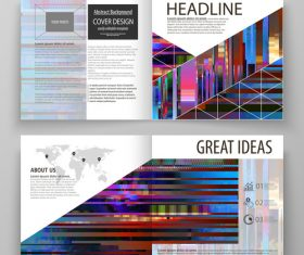 Abstract templates layout and description vector