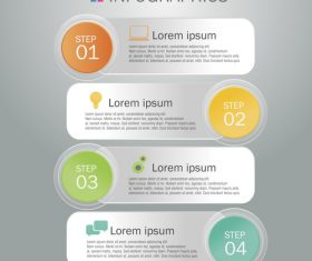Aligning banners upside down Infographics design template vector