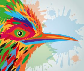 Animal and art design vector