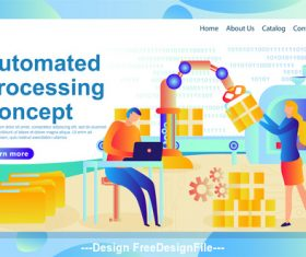 Automated processing plane banner vector