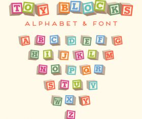 BLOCKS Alphabet Vector