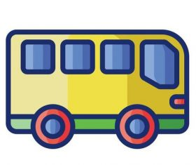 BUS cartoon vector