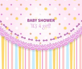 Baby Shower vector 01