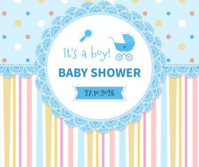 Baby Shower vector 02