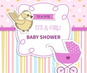 Baby Shower vector 03