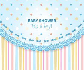 Baby Shower vector 04