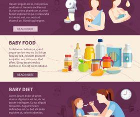 Baby and toddler nutrition food banner vector