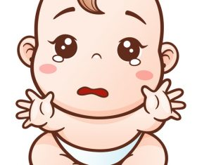 Baby begging for hug vector illustration vector