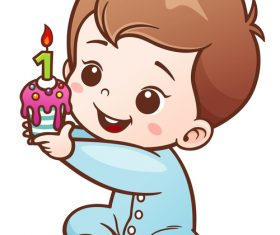 Baby birthday vector illustration vector