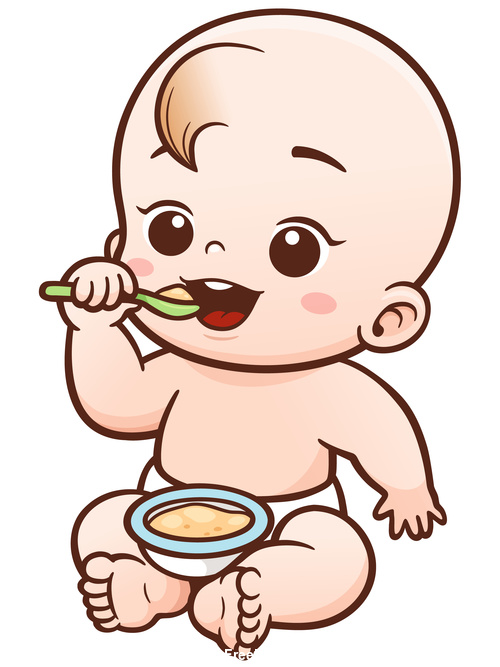Baby eating vector illustration vector